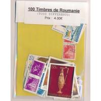 Lot de 100 Timbres de Roumanie PT043