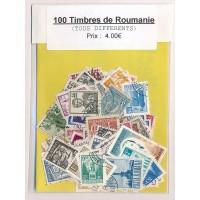 Lot de 100 Timbres de Roumanie PT037