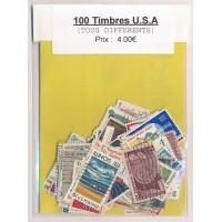 Lot de 100 Timbres des Etats Unis PT039