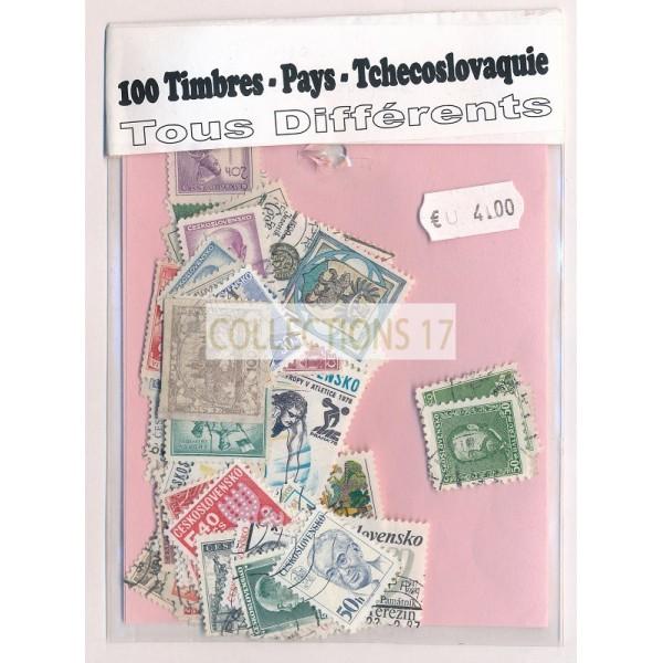 Lot de 100 Timbres de Tchecoslovaquie PT018