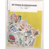 Lot de 100 Timbres de Tchecoslovaquie PT020