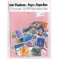 Lot de 100 Timbres des Pays Bas PT016