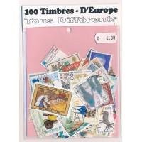 Lot de 100 Timbres D'Europe PT014