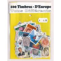 Lot de 100 Timbres D'Europe PT052