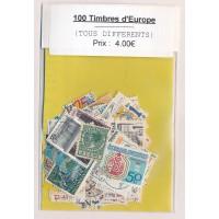 Lot de 100 Timbres D'Europe PT049