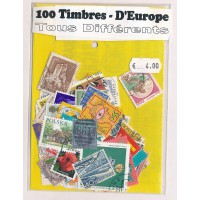 Lot de 100 Timbres D'Europe PT050