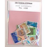 Lot de 100 Timbres Afrique PT024