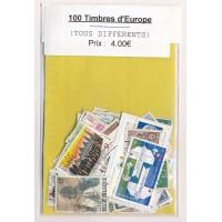 Lot de 100 Timbres d'Europe PT028