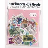 Lot de 100 Timbres du Monde PT056