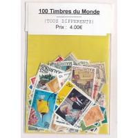 Lot de 100 Timbres du Monde PT055