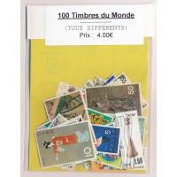 Lot de 100 Timbres du Monde PT047