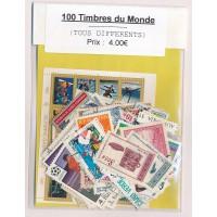 Lot de 100 Timbres du Monde PT048