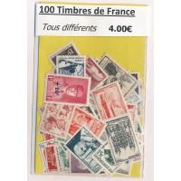 Lot de 100 Timbres de France PT026