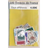 Lot de 100 Timbres de France PT005