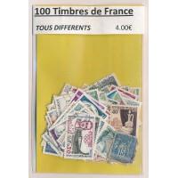 Lot de 100 Timbres de France PT046
