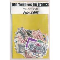 Lot de 100 Timbres de France PT009