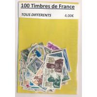Lot de 100 Timbres de France PT012