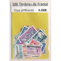 Lot de 100 Timbres de France PT013