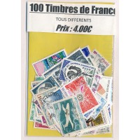 Lot de 100 Timbres de France PT015