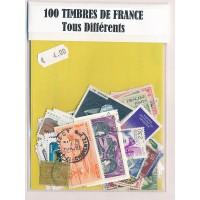 Lot de 100 Timbres de France PT017