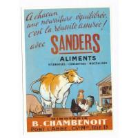 Carte Postale 10x15 Sanders Aliments vitaminisés concentrés minéralisés - Centenaire Editions