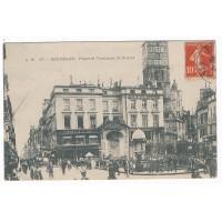 CPA - (33) - Bordeaux Place et Fontaine St Projet