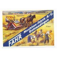 Carte Postale 10x15 Fahr Moissonneuse-lieuse - Centenaire Editions
