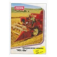 Carte Postale 10x15 Moissonneuse batteuse fahr 1961 - Centenaire Editions