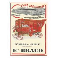 Carte Postale 10x15 Braud et Cie Batteuse - Centenaire Editions