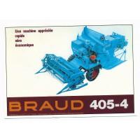 Carte Postale 10x15 Moissonneuse batteuse braud 405-4 - Centenaire Editions
