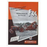 Carte Postale 10x15 Moissonneuse Batteuse F44 Mc Cormick - Centenaire Editions