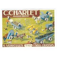 Carte Postale 10x15 6 vehicules mais 1 seul chassis - Centenaire Editions