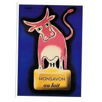 Carte Postale 10x15 Monsavon au lait Savignac - L'avion Postale