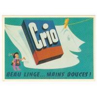 Carte Postale 10x15 Crio beau linge mains douces - Editions F.Nugeron