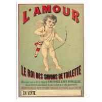 Carte Postale 10x15 L'amour Le Roi des savons de toilette - L'avion Postal