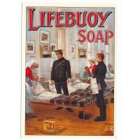 Carte Postale 10x15 Lifebuoy Soap - Robert Opie Collection