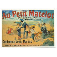 Carte Postale 10x15 Au petit matelot costume vrais marins - claude aubert éditeur