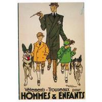 Carte Postale 10x15 Vetements Trousseaux pour hommes & enfants - Editions F.Nugeron