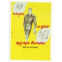 Carte Postale 10x15 Soyez enfin vous meme dans un vêtement - Editions F.Nugeron