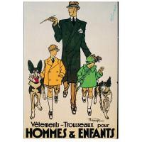 Carte Postale 10x15 Vetement Trousseaux pour hommes & enfants - Editions F.Nugeron