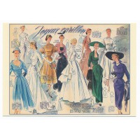 Carte Postale 10x15 Vetement Joyeux Carillon - Floriscope
