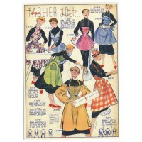 Carte Postale 10x15 Vetement tablier joli - Floriscope