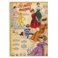 Carte Postale 10x15 Les petits masques - Floriscope