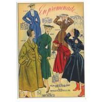 Carte Postale 10x15 Vetement en promenade - Floriscope