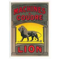 Carte Postale 10x15 - Machines à coudre Lion - claude aubert editeur