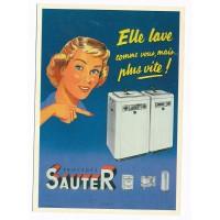 Carte Postale 10x15 - Sauter elle lave plus vite que vous - Edition F.Nugeron