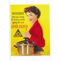 Carte Postale 10x15 - Super Cocotte Seb la cocotte de luxe - Editions Clouet
