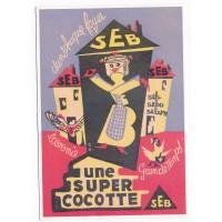 Carte Postale 10x15 - Seb une Super Cocotte - Editions Clouet