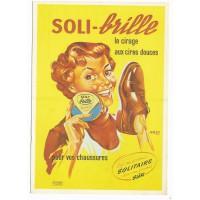 Carte Postale 10x15 - Soli brille le cirage aux cires douces - Editions F.Nugeron