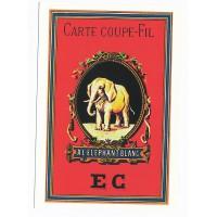 Carte Postale 10x15 - Carte coupe fil à l'éléphant blanc EC - Floriscope